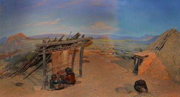 An original diorama from the collection