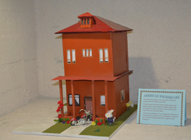 'American Foursquare' model by Franklin H.S. students. Southwest Museum Mayan Tunnel Living Museum